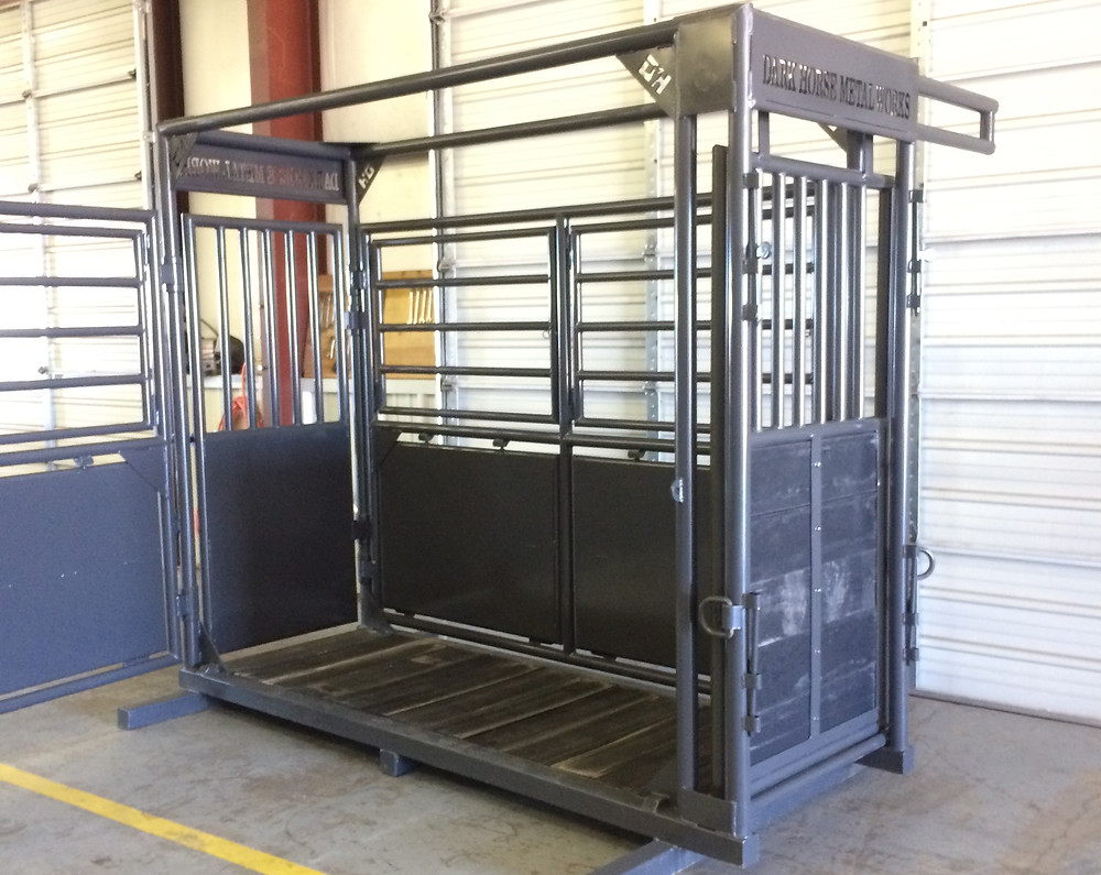 Dark Horse Metal Works Horse Stanchion - Custom Designed for Any Rancher and Rough Stock Contractor's Needs