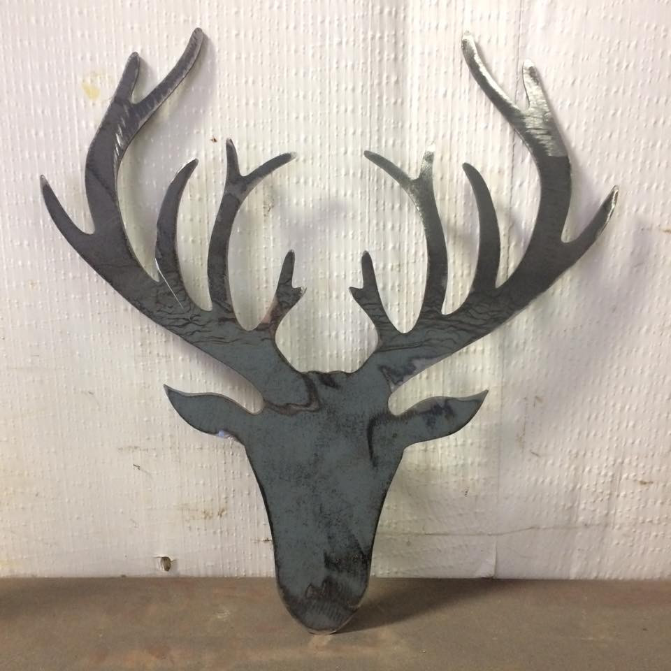 Welding cutout metal deer decoration for wall display, hunting lodge decoration, hunting decor.