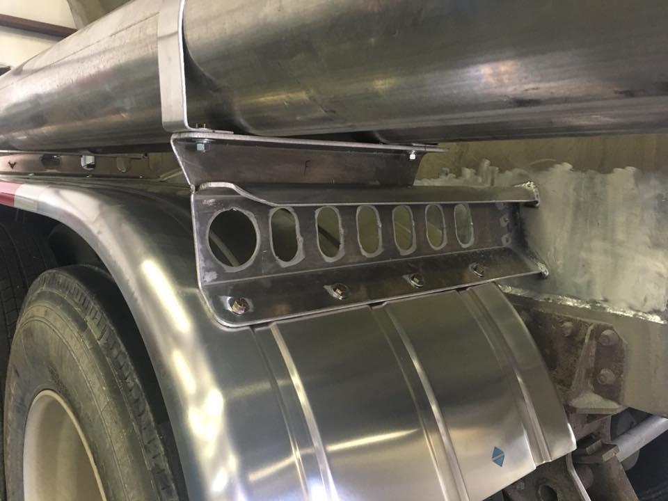 Aluminum mud flaps for concrete semi truck