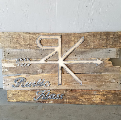 Rustic Klass - Farmhouse Wood and Metal Wall Sign