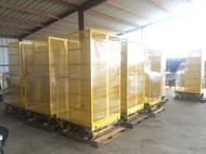 Warehouse storage shelves