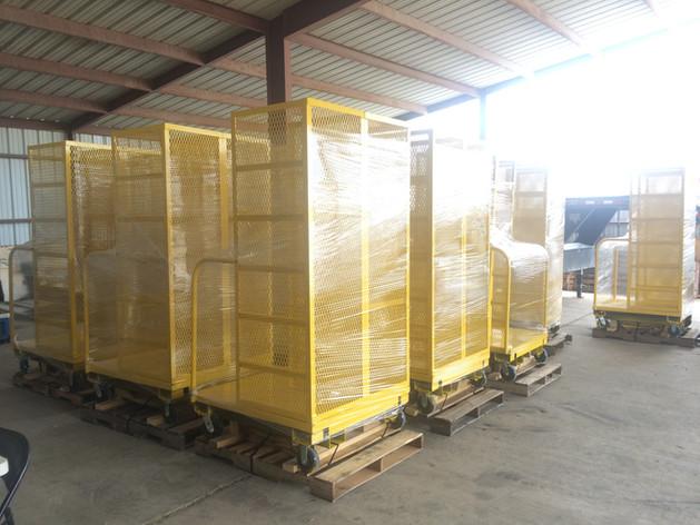 Custom metal warehouse storage solution