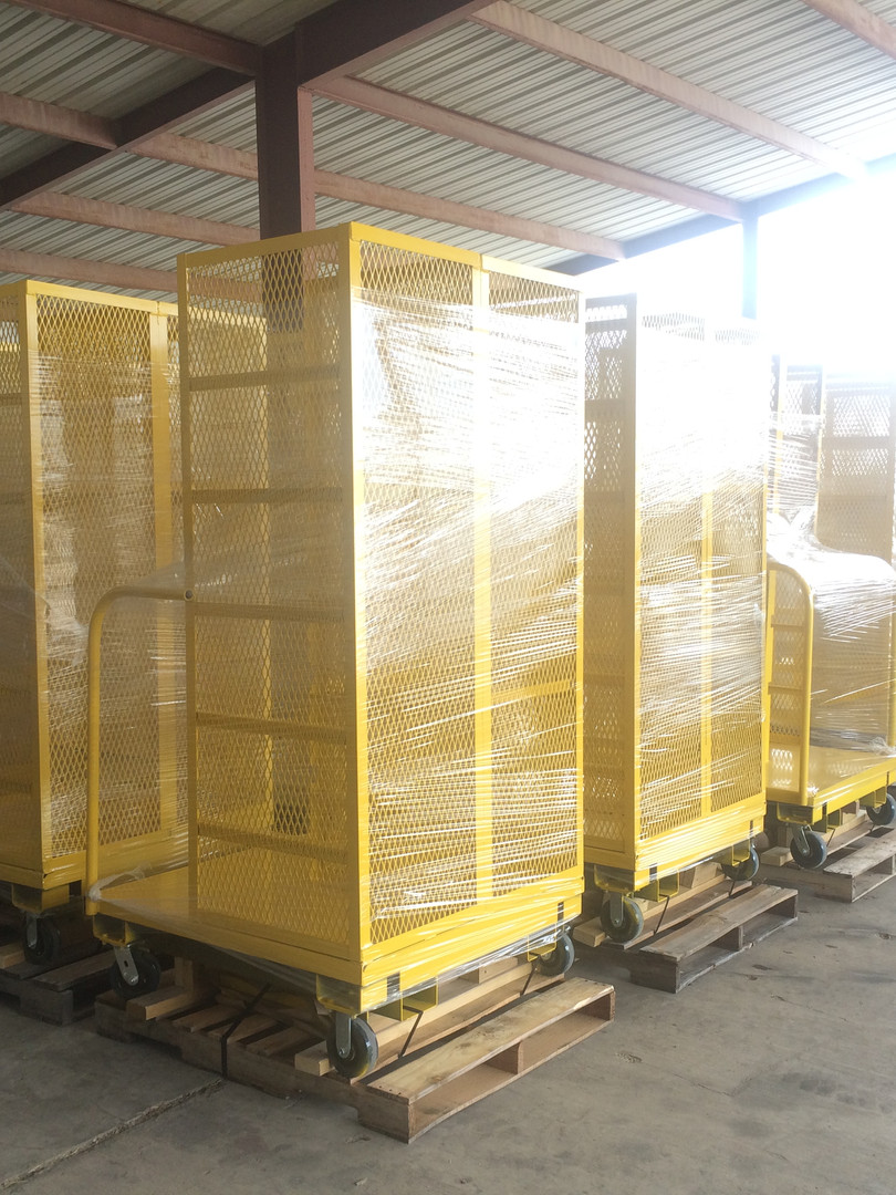 Warehouse Storage Racks on Wheels