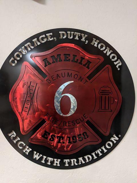 Metal Wall Emblem for Fire Departmen