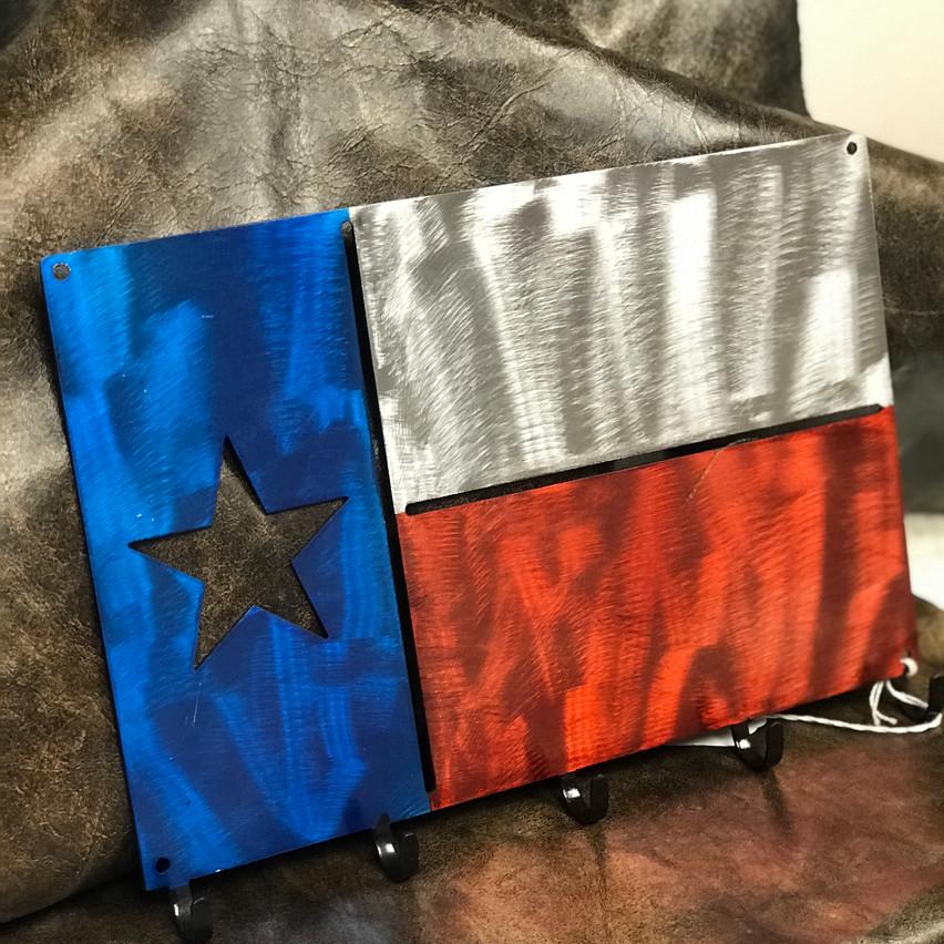 texas flag key chain holder
