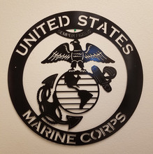 Semper Fidelis - Marine Corp Custom Cut Wall Decal Sign
