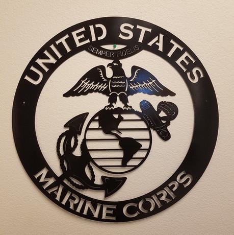 Semper Fidelis - Marine Corp Custom Cut Wall Decal Sign