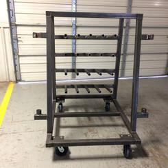 Materials Handling Wire Storage Cart