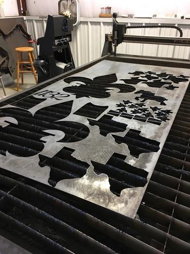 custom cutouts on the CNC machine