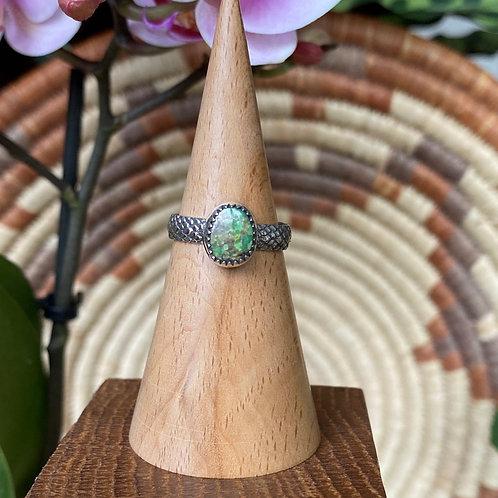 Turquoise Rattlesnake Ring