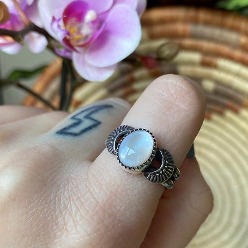 Mother of Pearl Western Ring