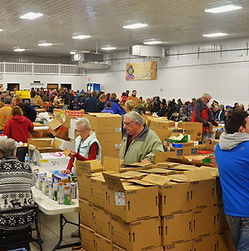 Faith Temple Food Giveaway. Group of people