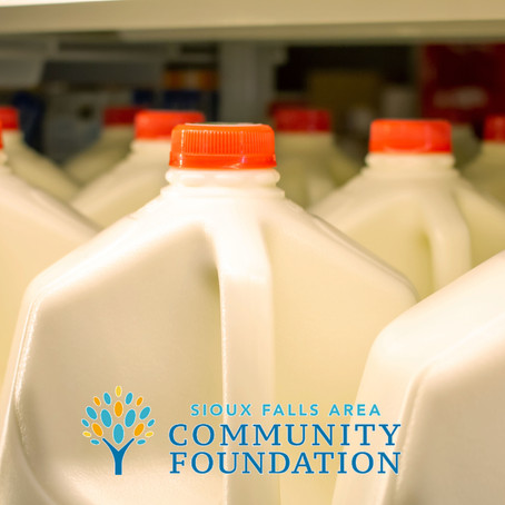 Sioux Falls Area Community Foundation provides  6,000 gallons of milk for summer months