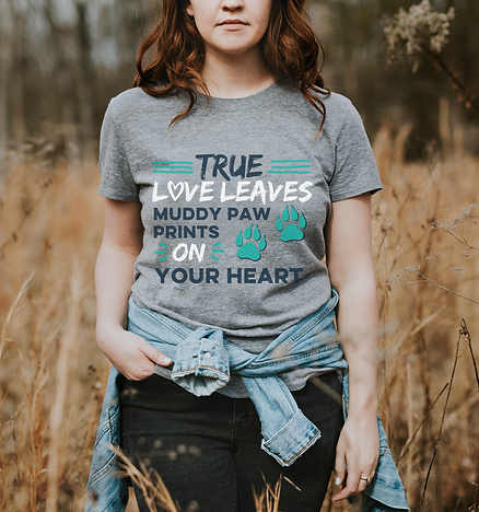 True love t-shirt grey