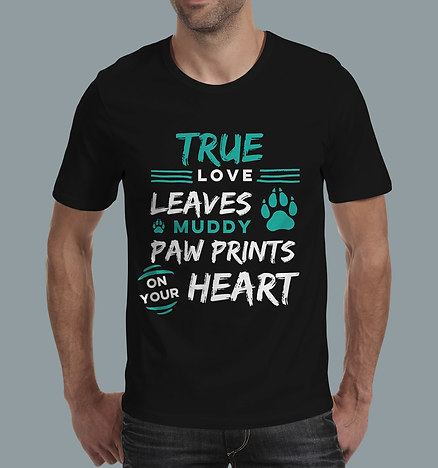 True love t-shirt black