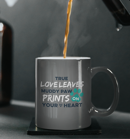 True love mug grey