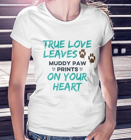 True love t-shirt white