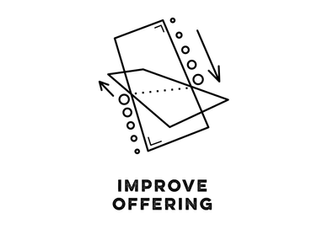 improve your current product | service | website | ad | packaging | branding