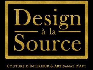"""FRANCE - MODE : """" DESIGN A LA SOURCE """", Couture d'intérieur et artisanat d'art."""