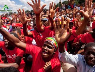 ZIMBABWE - MANIFESTATION : L'opposition manifeste dans la rue contre Mugabe