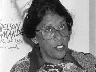Dulcie September, représentante de l'ANC (African National Congress), à Paris.