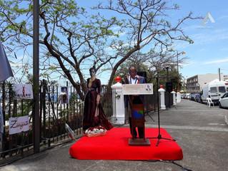 RÉUNION - inauguration et dévoilement de la plaque commémorative de la Reine Ranavalona III