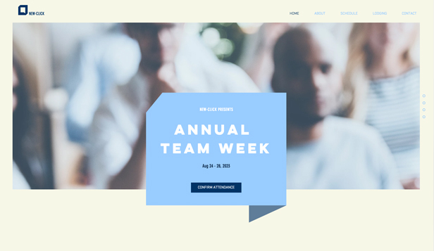 Events website templates – Company Event