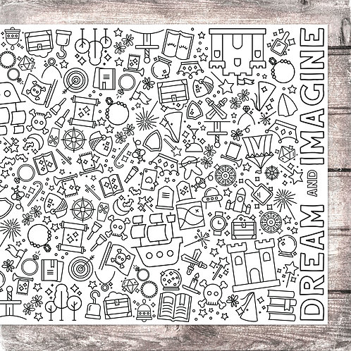 Dream and Imagine Coloring Banner