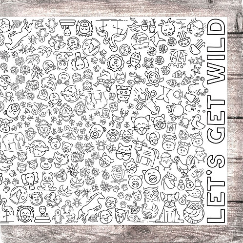 Let's Get Wild Coloring Banner
