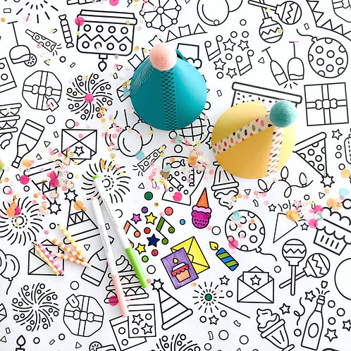 It's Party Time Coloring Banner