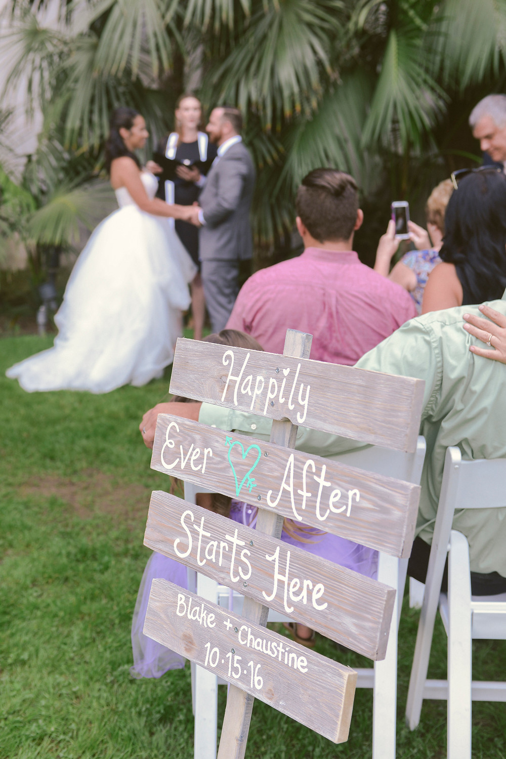 Happily Ever After Starts Here Sign Photo By ByCherry Photography