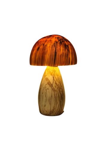 Bordlampe i træ