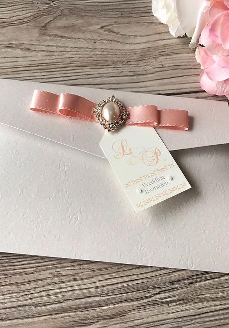Textured Pocketfold Wedding Invitation