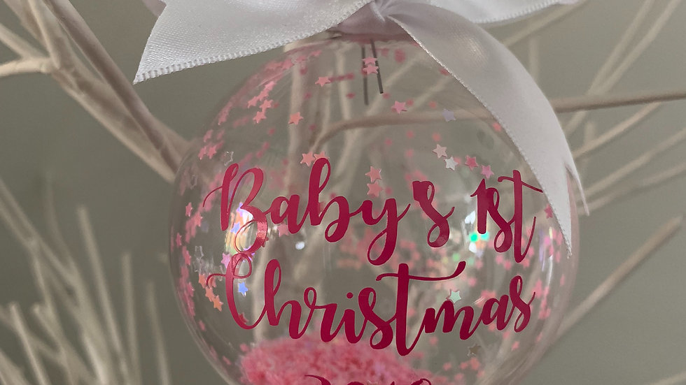 Baby's First Christmas Glass Bauble