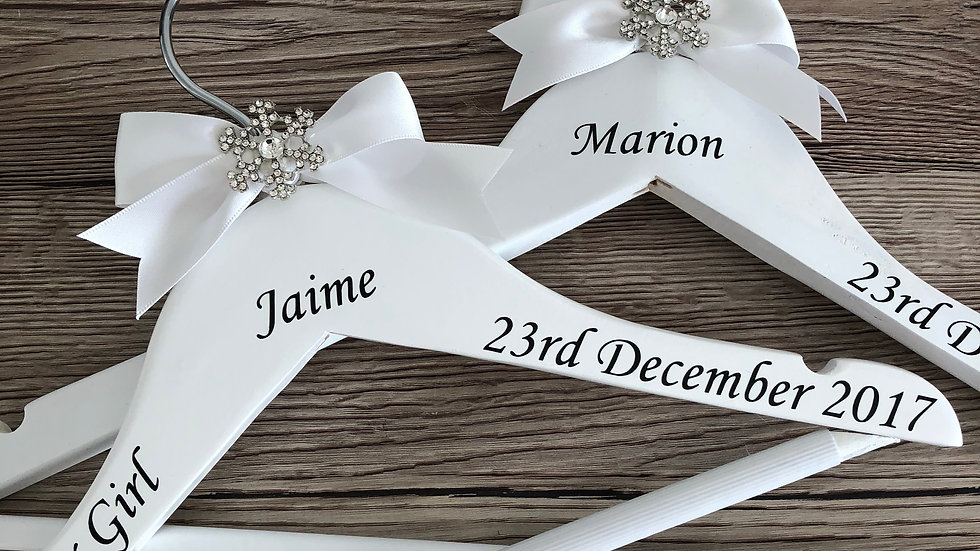 Personalised Snowflake Wedding Party Hangers