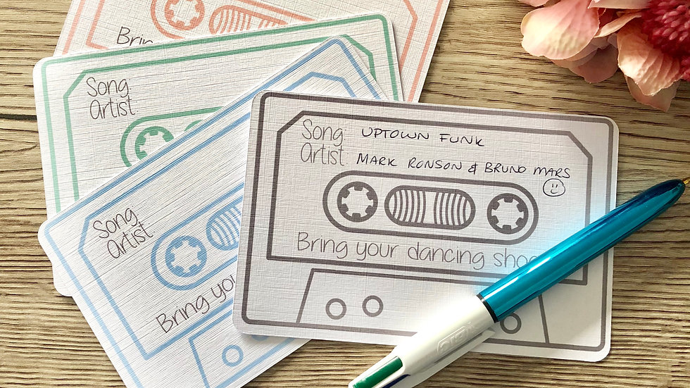 Wedding Song request Cards