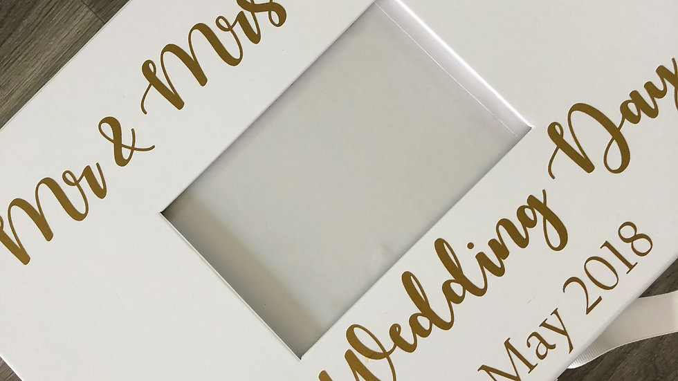 Personalised Wedding Keepsake Photograph Box