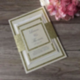 Wedding Invitation bundle in gold and ivory