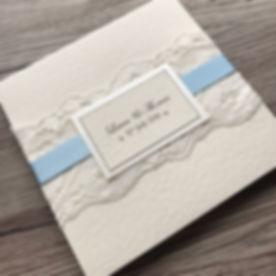 Lace Pocketfold Wedding Invitation