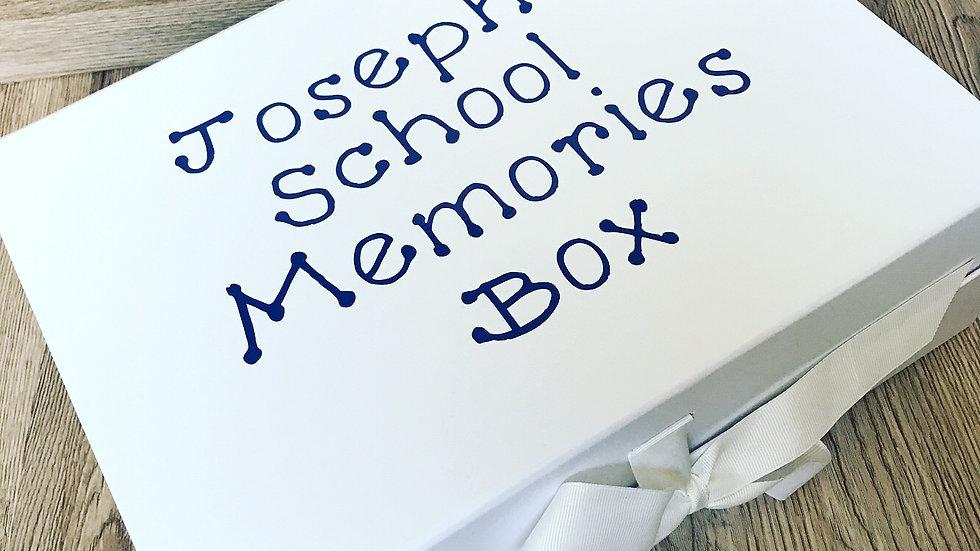 Personalised School Memories Keepsake box