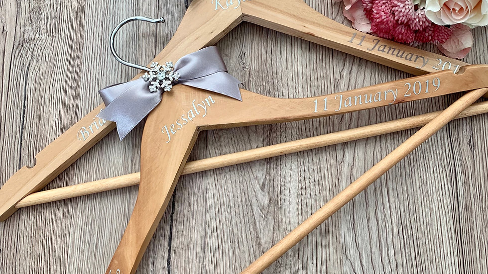 Personalised Snowflake Wedding Party Dress Hangers