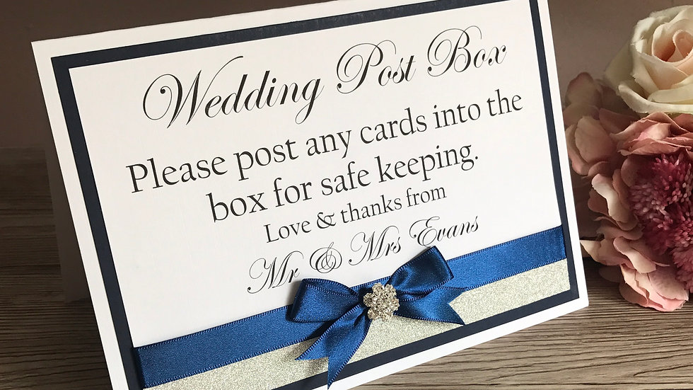 Table Top Wedding Day Signage