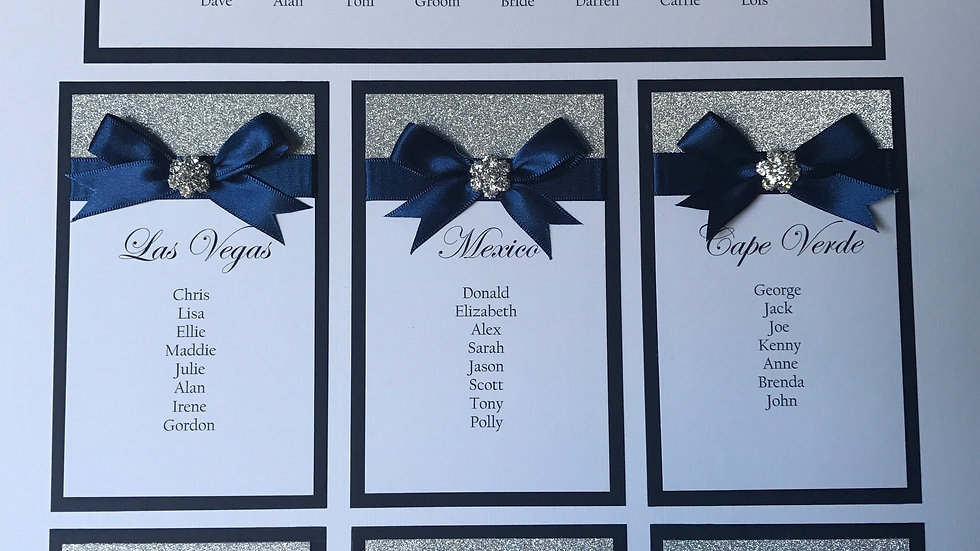 Holly Glitter Wedding Table Plan