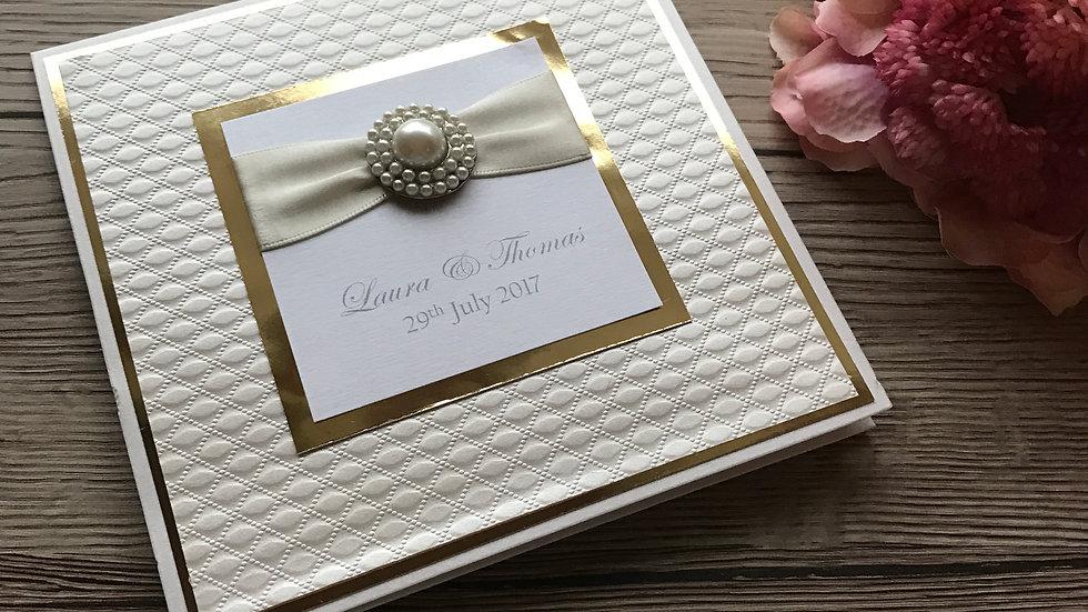 Luxury Tent Fold Wedding Invitation