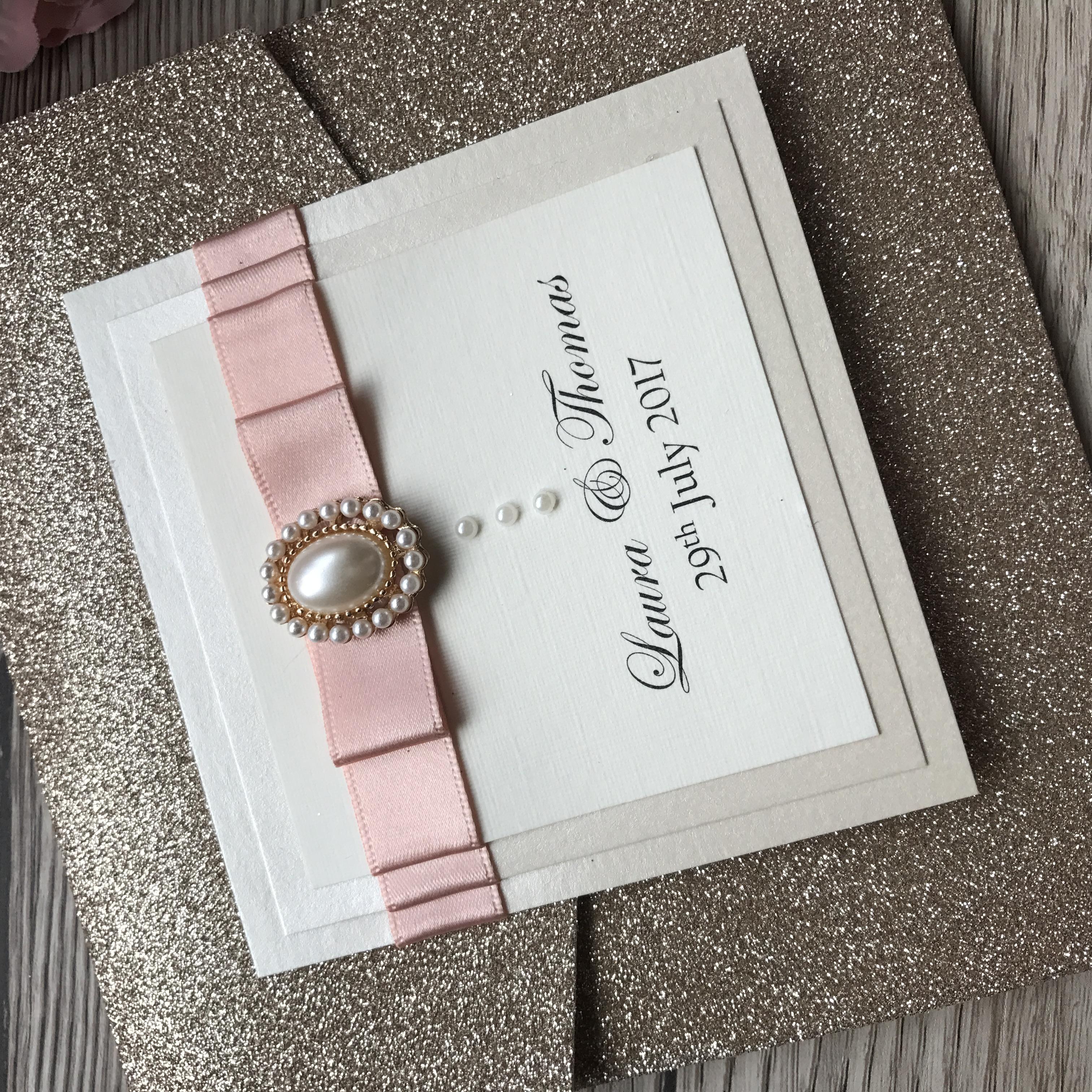 hampage Glitter Pocketfold Invite
