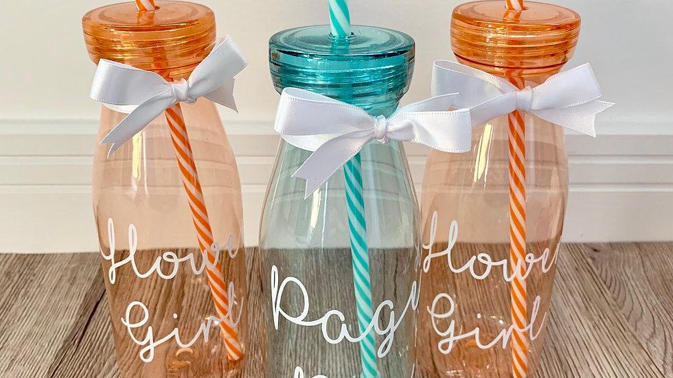 Children's Wedding Favour Reusable Milkshake Bottle Gift