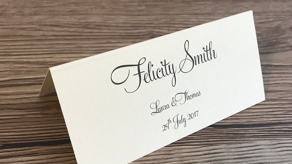 Printed Place Name Cards