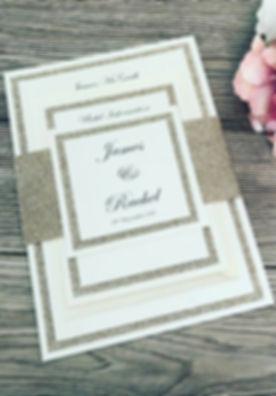 Rachel glitter wedding invitation bundle