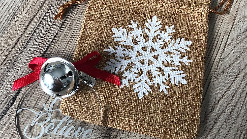 I Believe Santa Bell Christmas Eve Gift