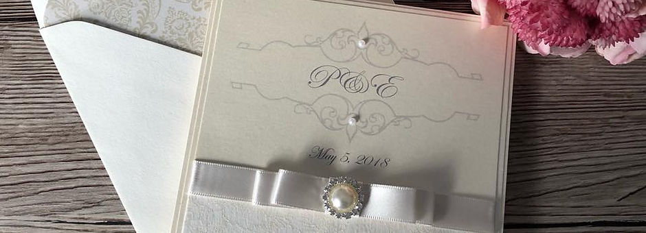 Ivory Pearl Pocketfold Wedding Invitation